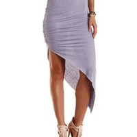 Ruched Asymmetrical Skirt by Charlotte Russe