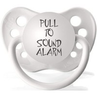 "Expression Pacifier ""Pull to Sound Alarm""- White"