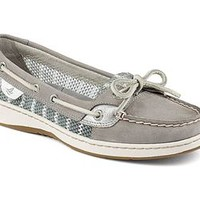 Sperry Top-Sider Womens Angelfish Grey Breton Stripe Mesh Boat Shoes STS91515