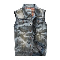 Slim Denim Men Men's Vest Trendy Stylish Jeans