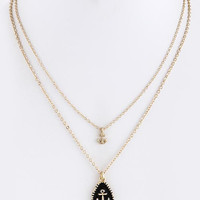 Double Layer Anchor Necklace