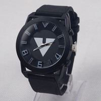Vintage Triangle Silicone Watch