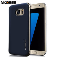 NKOBEE For Samsung Galaxy S7 Edge Case Leather+Transparent Hard Back Cover For Samsung Galaxy S7&S7 Edge Case Original Luxury