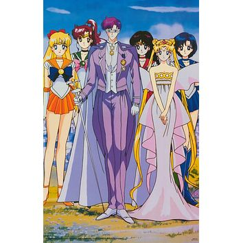 Sailor Moon Cartoon Cast 1999 Poster 22x34