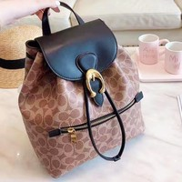 Coach hot seller of women's casual shopping bag with fashionable printing and color stitching backpacks #2