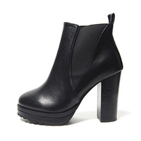 Side Banded Ankle Boots