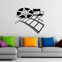 Wall Stickers Vinyl Decal Cinematography Movie Tape Director Action Unique Gift EM058