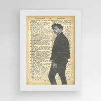 1 Alex Turner Poster, Arctic Monkeys Poster, Music Art Print, Alex Turner Print Arctic Monkey's Fan Art Print, Dictionary Print, Last Shadow