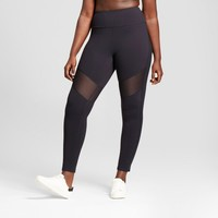 Women's Plus Premium High Waist Mesh Leggings - JoyLab™