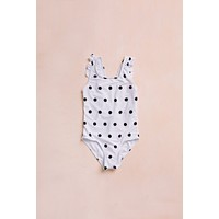Kids Ruffle Dotted One Piece Swimsuit
