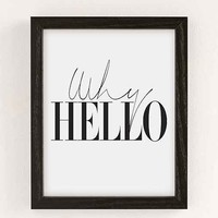 Letters On Love Why Hello Art Print