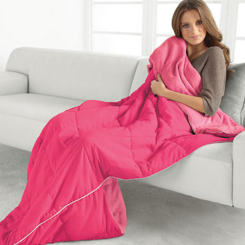 Pure Bliss Quilted Sofa Blanket with Foot Pocket—Buy Now!