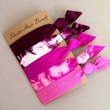 The Lillian Hair Tie-Ponytail Holder Collection - 5 Elastic Hair Ties by Elastic Hair Bandz on Etsy