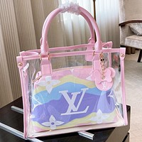 LV Fashion New Monogram Print Leather Shoulder Bag Handbag