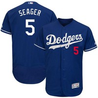 Men's Los Angeles Dodgers Corey Seager Majestic Royal Fashion Authentic Collection Flex Base Player Jersey