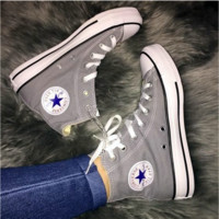 Converse All Star Sneakers for Unisex Hight tops sports Leisure Comfort Shoes Grey