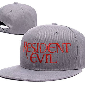 ZZZB Resident Evil Logo Adjustable Snapback Embroidery Hats Caps - Red