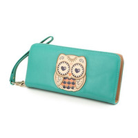 Blue Owl Wallet Clutch