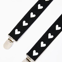 Heart On Your Steeze Suspenders