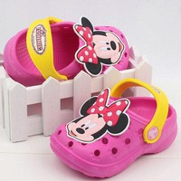 2016 New Kids Garden Shoes,Boys and Girls Minnie Chinese-Made Hole Sandals,Children Summer Slippers,Babies Sandals