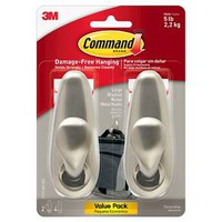 Command™ Metal Forever Classic Brushed Nickel- Large 2/Pk : Target