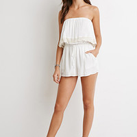 Off-the-Shoulder Crepe Romper