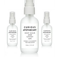 Curious Apothecary Keep Calm and Spray On™ Hand Cleanser Refresher