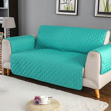 Sofa Couch Protector, Reversible, Removable Armrest Slipcovers