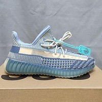 Adidas Yeezy Boost 350 simple and versatile sports running shoes Blue