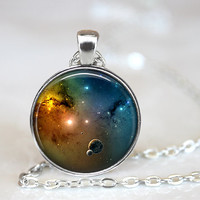Galaxy Pendant, Galaxy Necklace, Space Jewelry, Galaxy Jewelry, Nebula Pendant, Universe Jewelry