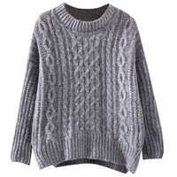 Ribbed Knit Long Sleeve Sweater