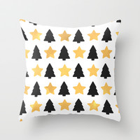christmas tree Throw Pillow by Grace
