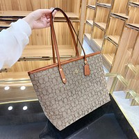 Coach handbags hot sale carriage double-sided picture mother shopping bag one-shoulder handbag