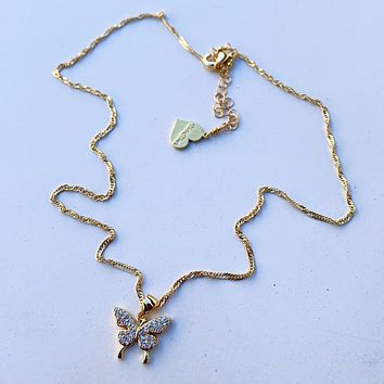Mariposa Mami Charm Necklace