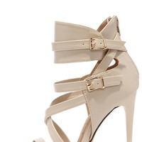 Got It Going On Nude Caged Heels