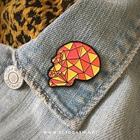 Limited Edition Geometric Skull Enamel Pin
