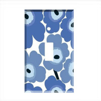 Blue Flowers Floral Single Light Switch Plate Wall Cover Room Decor