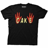 Bob's Burgers Cake Theater Show Adult Shirt (Large, Black)