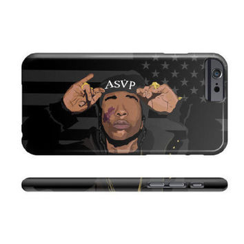 Asap Rocky Apple IPhone case 4 5 5c 6 6s Plus Galaxy classic trill vsvp black american flag gold mob
