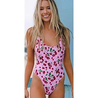 Chloe Rose One Love Cherries One Piece Swimwear Swimsuit
