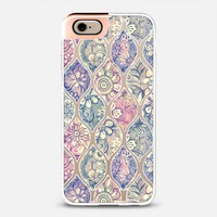 Vintage Patterned & Painted Floral Ogee - white transparent iPhone 6 case by Micklyn Le Feuvre | Casetify