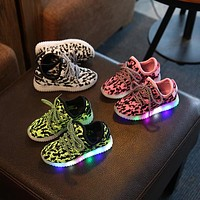 Kids Shoes Girls 2016 Sport Shoes For Girls And Boys Kids LED Shoes Child Yeezy Sneake