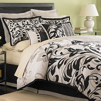 CLOSEOUT! MarthaStewart Collection Bedding, Ink Scroll 6 Piece Duvet Cover Sets