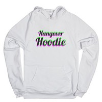 Hangover Hoodie (Pink and Green)-Unisex White Hoodie