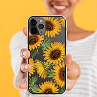 Vintage Sunflowers Clear Phone Case