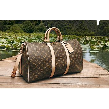 Samplefine2 LV classic old chess board for men and women travel bags