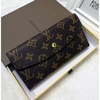Louis Vuitton LV Fashion Trending Women Leather Zipper Tote Handbag Wallet Purse Bag-3