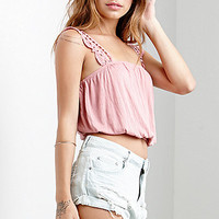 Me To We Crochet Strap Bubble Bottom Tank Top at PacSun.com