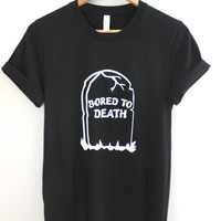 Bored To Death Black Graphic Unisex Tee