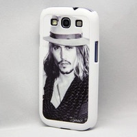 Vintage johnny depp  Samsung Galaxy S3/S4 Rubber Case,S2/Note 2 Hard Cover,iPhone 5/5S/5C/4/4S Rubber Case,iPod Touch 5/4 Hard Case
